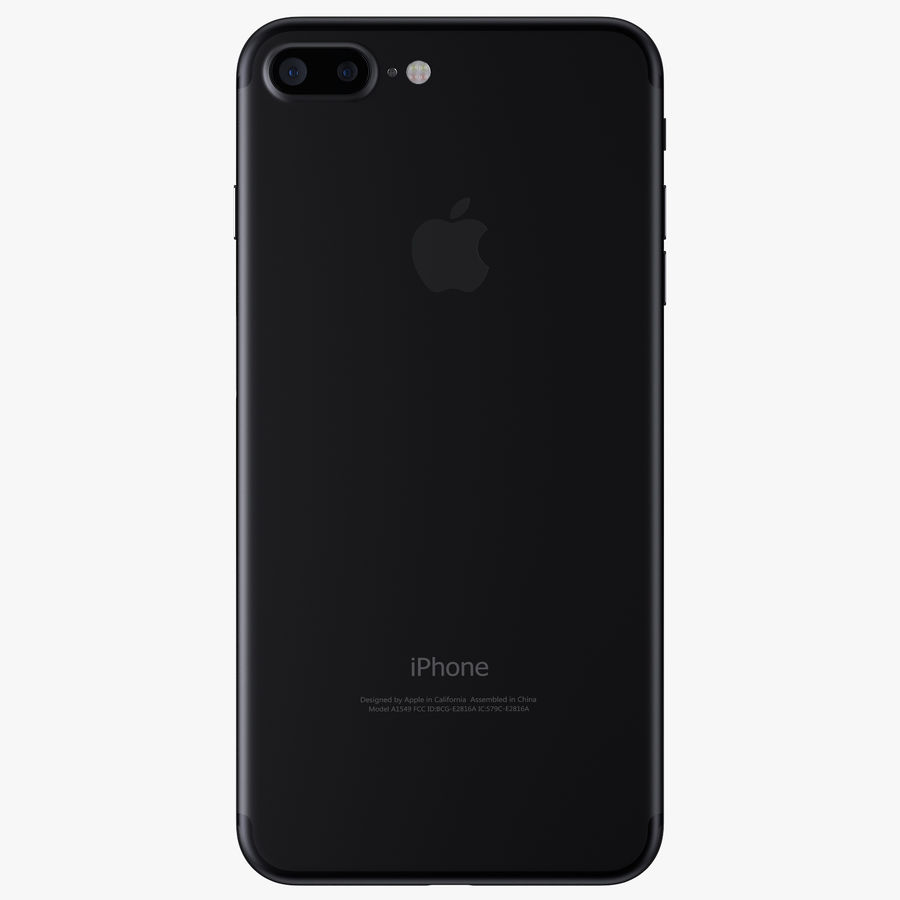 Apple iPhone 7 Plus + iPhone 7 Jet Black and Black royalty-free 3d model - Preview no. 11