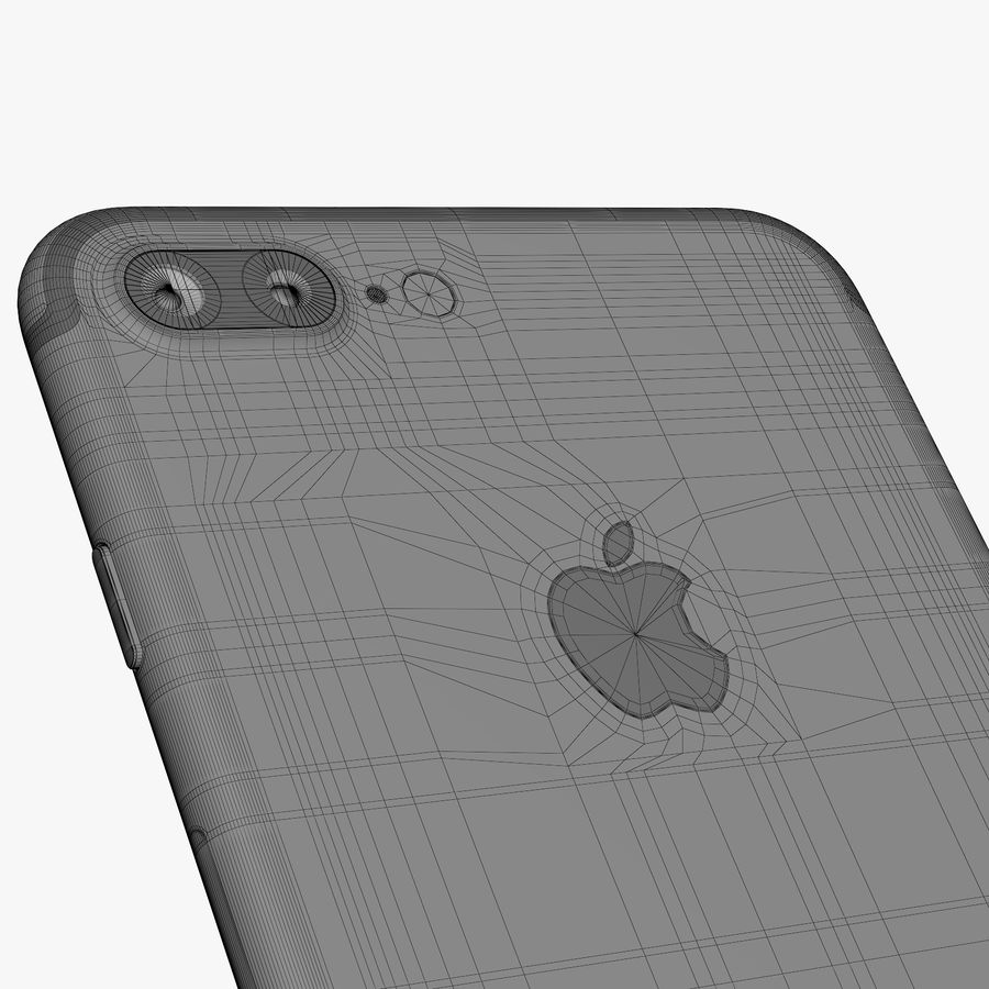 Apple iPhone 7 Plus + iPhone 7 Jet Black and Black royalty-free 3d model - Preview no. 53