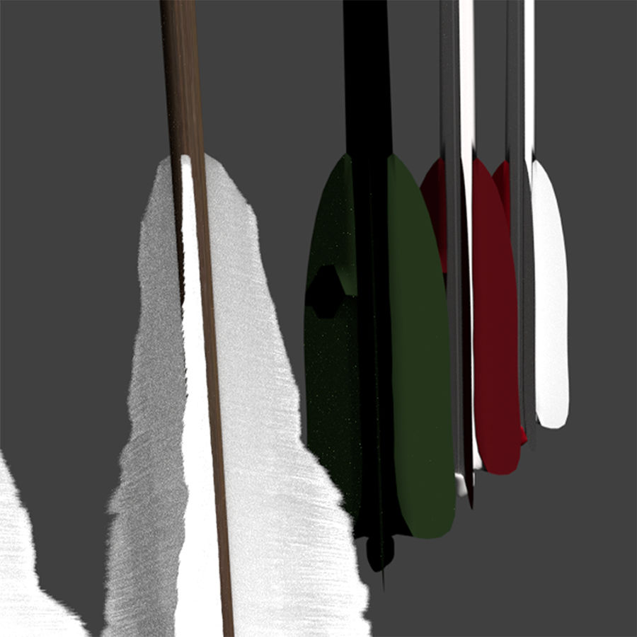 Bow and Arrows royalty-free 3d model - Preview no. 27