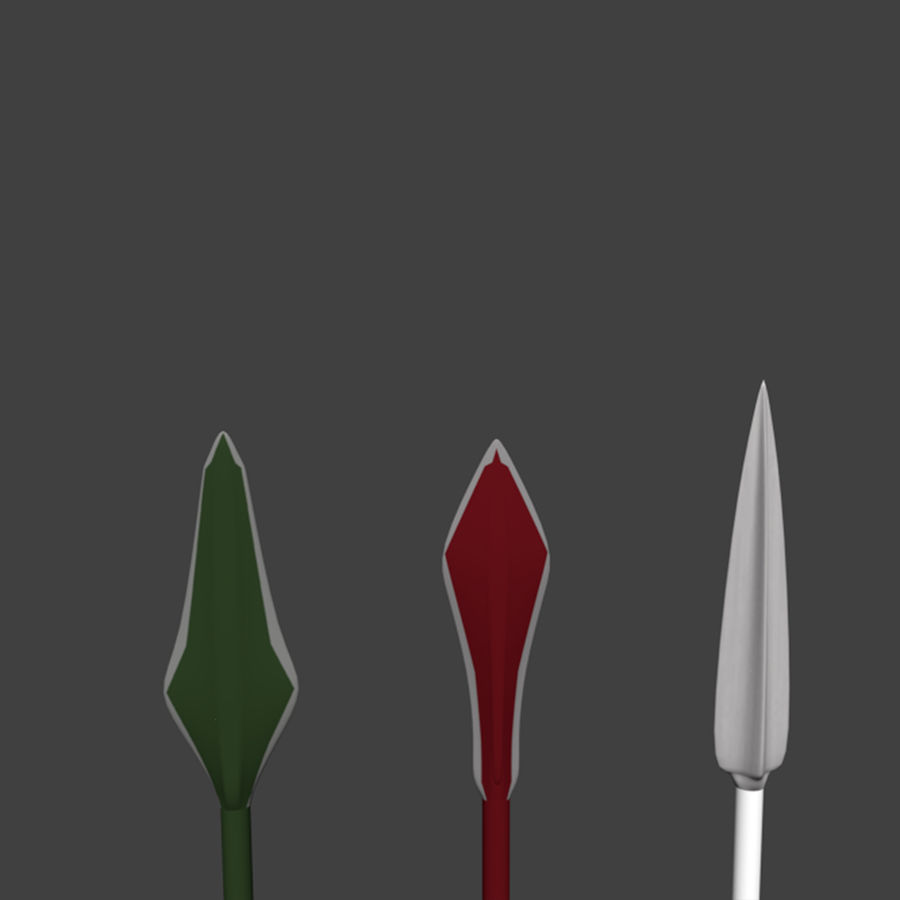 Bow and Arrows royalty-free 3d model - Preview no. 23