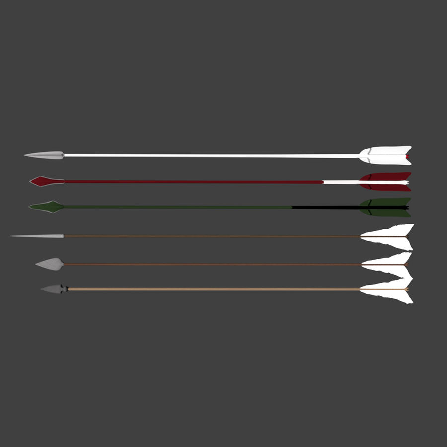 Bow and Arrows royalty-free 3d model - Preview no. 25