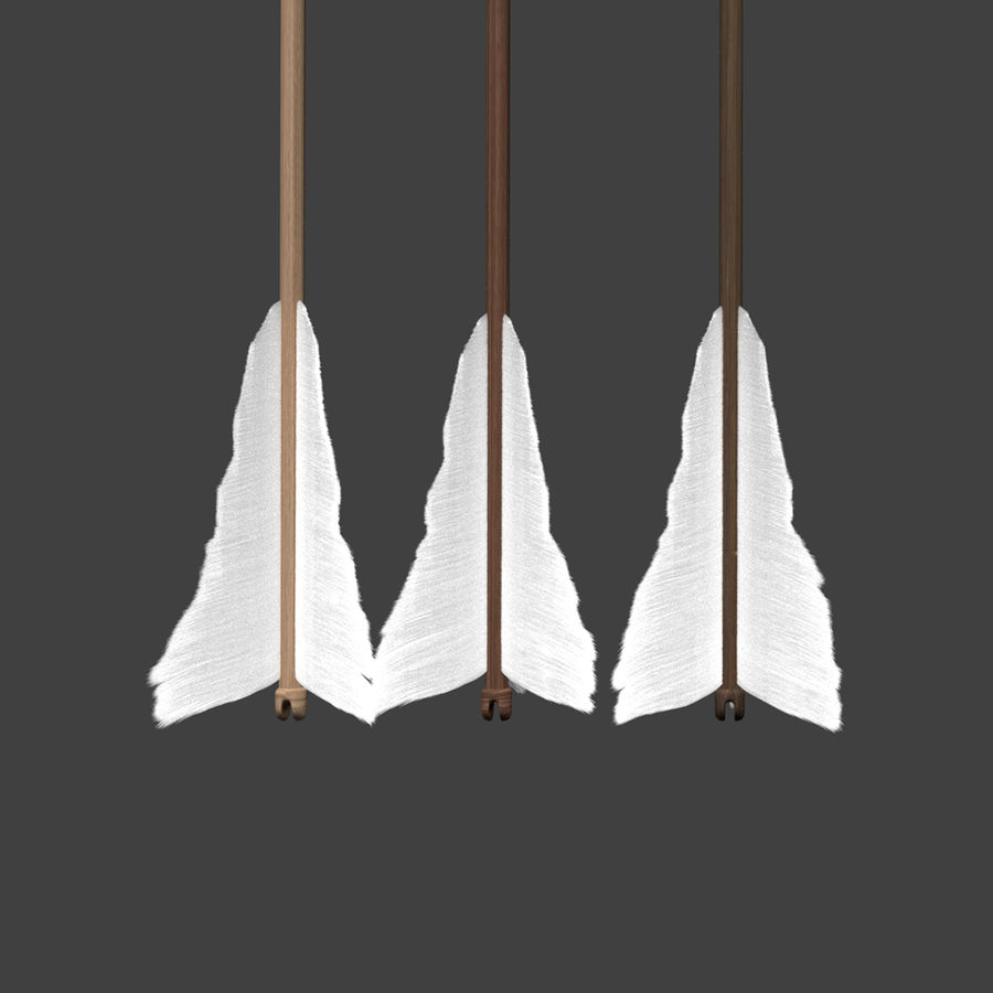 Bow and Arrows royalty-free 3d model - Preview no. 26