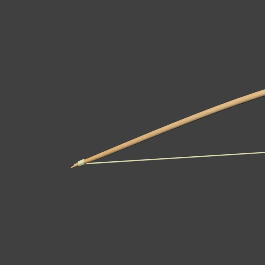 Bow and Arrows royalty-free 3d model - Preview no. 5