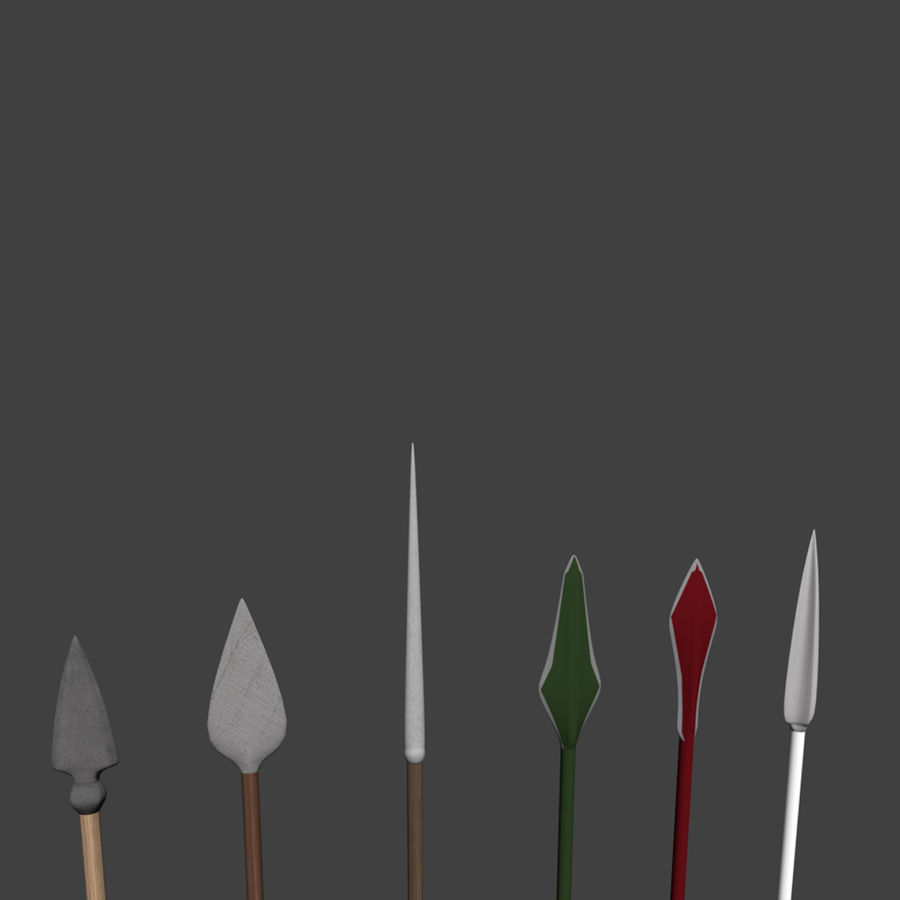 Bow and Arrows royalty-free 3d model - Preview no. 20