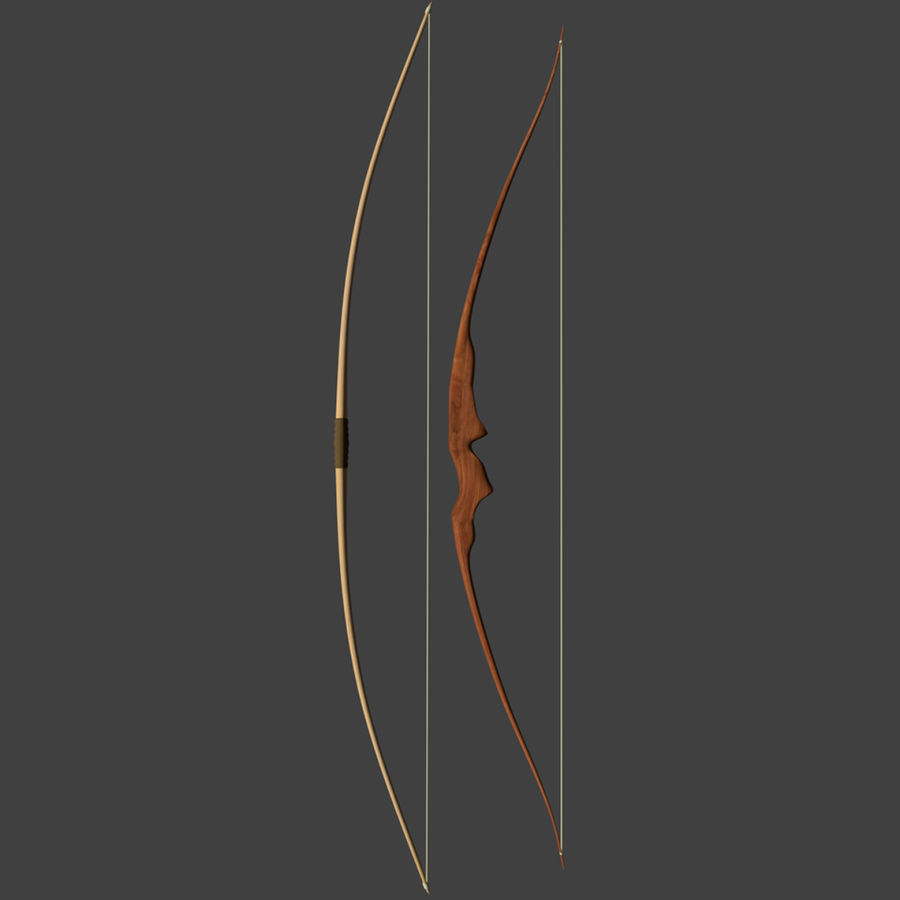 Bow and Arrows royalty-free 3d model - Preview no. 2