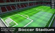 축구 경기장 4 3d model