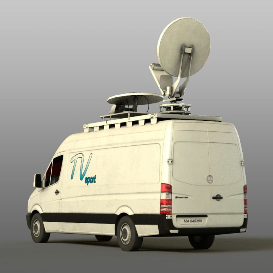 Mersedes Sprinter TV royalty-free 3d model - Preview no. 5