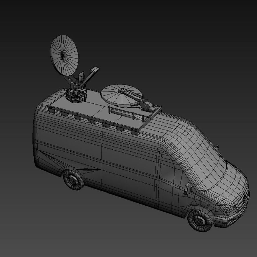 Mersedes Sprinter TV royalty-free 3d model - Preview no. 12