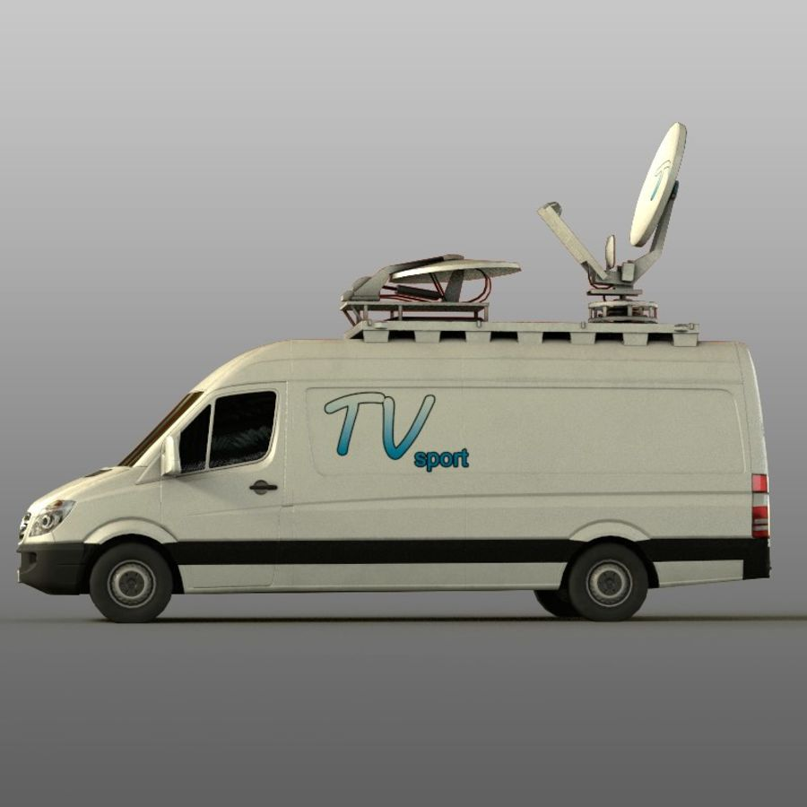 Mersedes Sprinter TV royalty-free 3d model - Preview no. 6