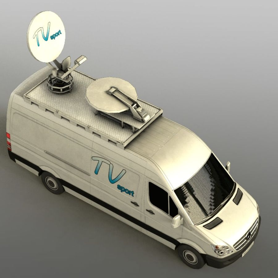 Mersedes Sprinter TV royalty-free 3d model - Preview no. 8