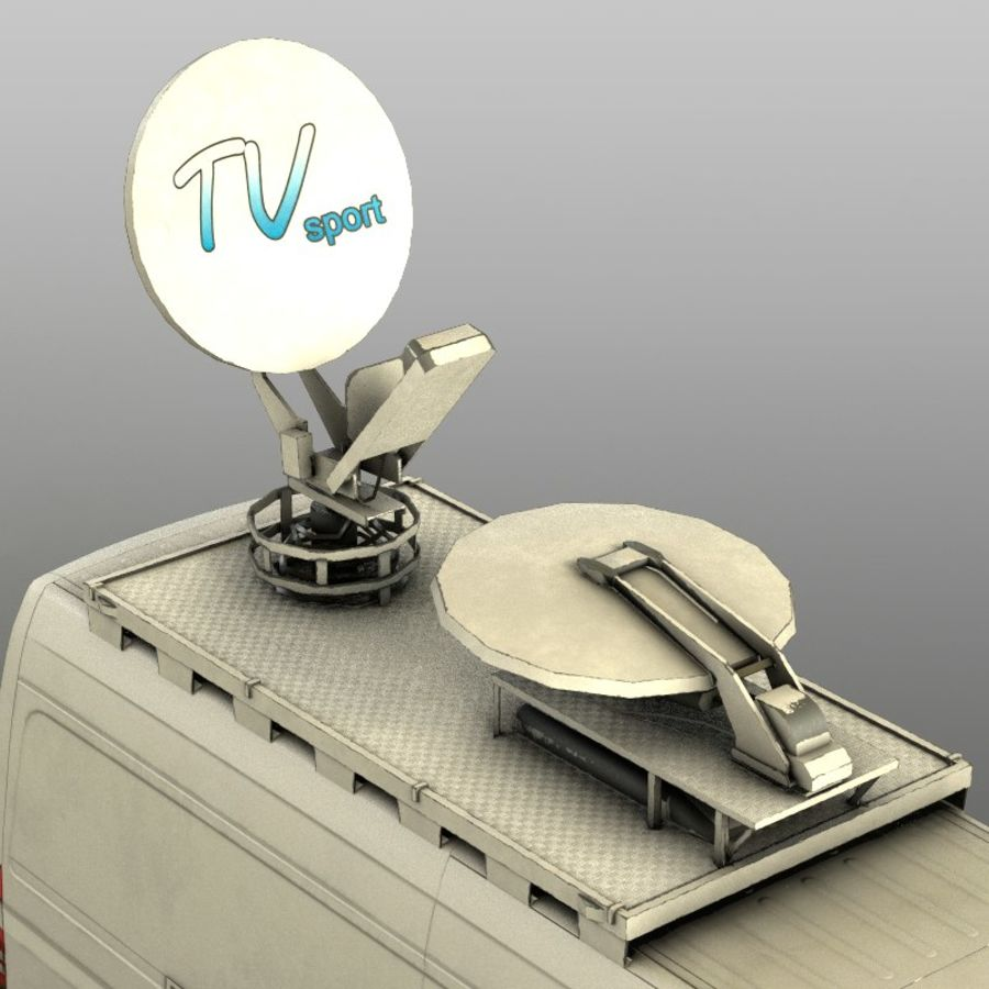 Mersedes Sprinter TV royalty-free 3d model - Preview no. 7