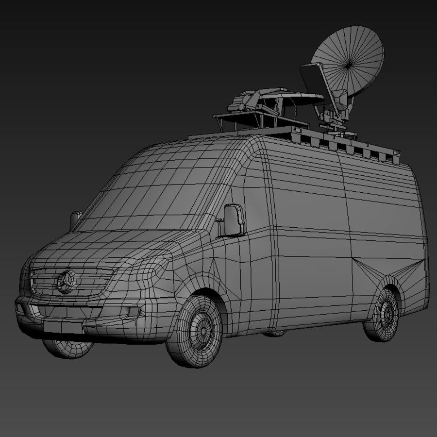 Mersedes Sprinter TV royalty-free 3d model - Preview no. 9