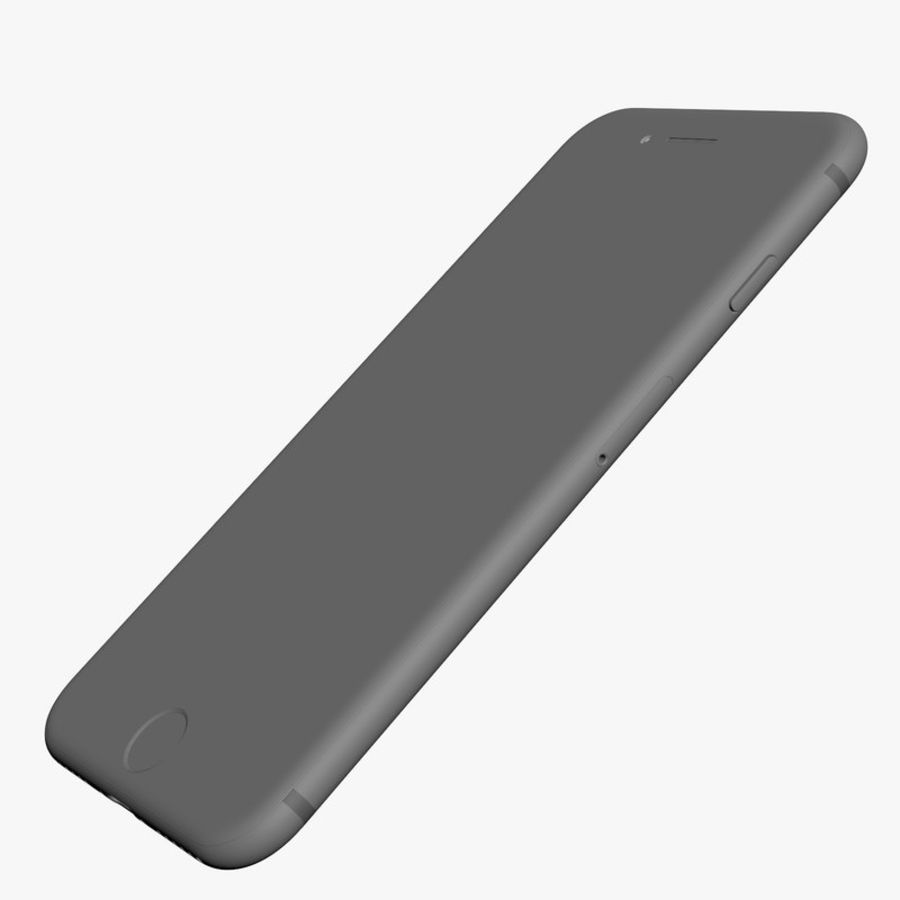 Apple iPhone 7 Jet Black and Black royalty-free 3d model - Preview no. 31