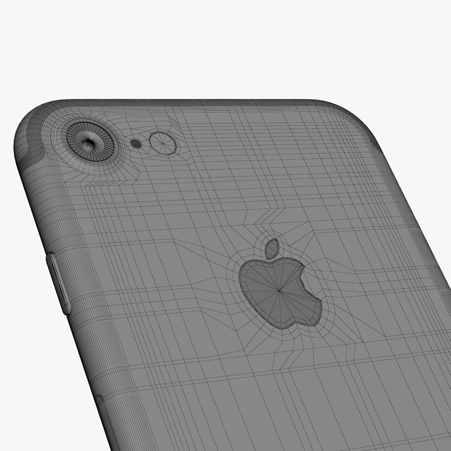 Apple iPhone 7 Jet黑色和黑色 royalty-free 3d model - Preview no. 34