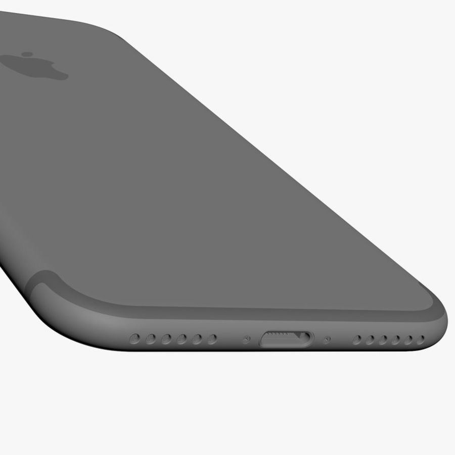 Apple iPhone 7 Jet Black and Black royalty-free 3d model - Preview no. 18
