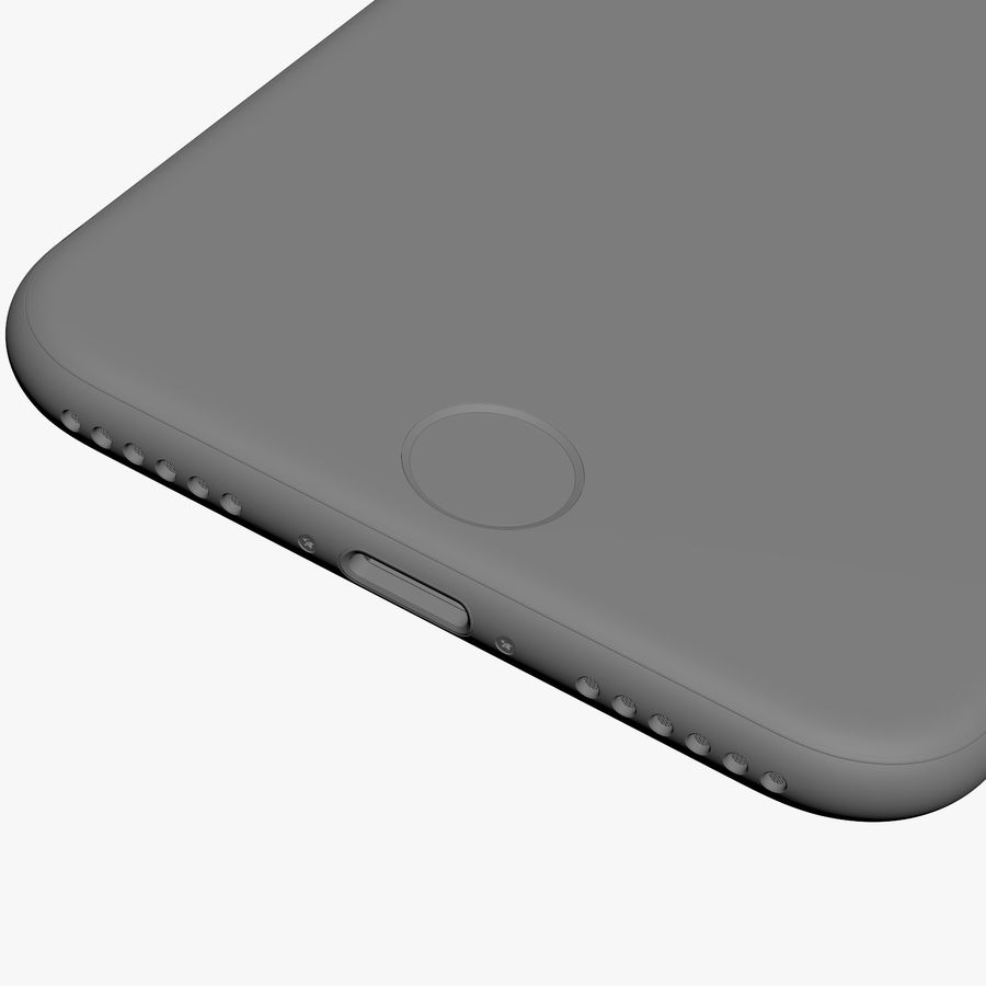 Apple iPhone 7 Jet黑色和黑色 royalty-free 3d model - Preview no. 30