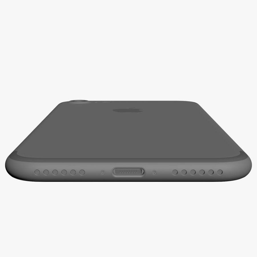 Apple iPhone 7 Jet Black and Black royalty-free 3d model - Preview no. 19