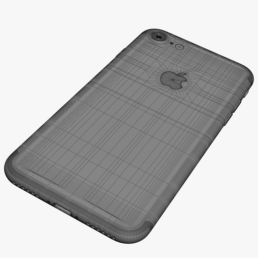Apple iPhone 7 Jet Black and Black royalty-free 3d model - Preview no. 1