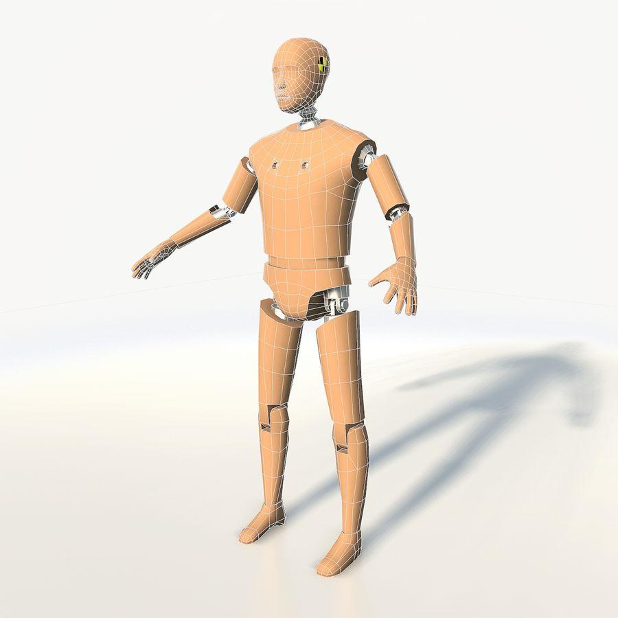 Crash test dummy royalty-free 3d model - Preview no. 3