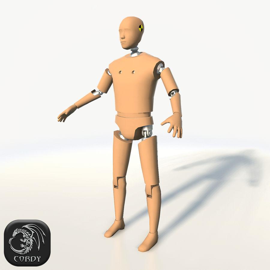 충돌 테스트 더미 royalty-free 3d model - Preview no. 1
