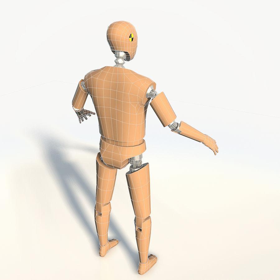 Crash test dummy royalty-free 3d model - Preview no. 7