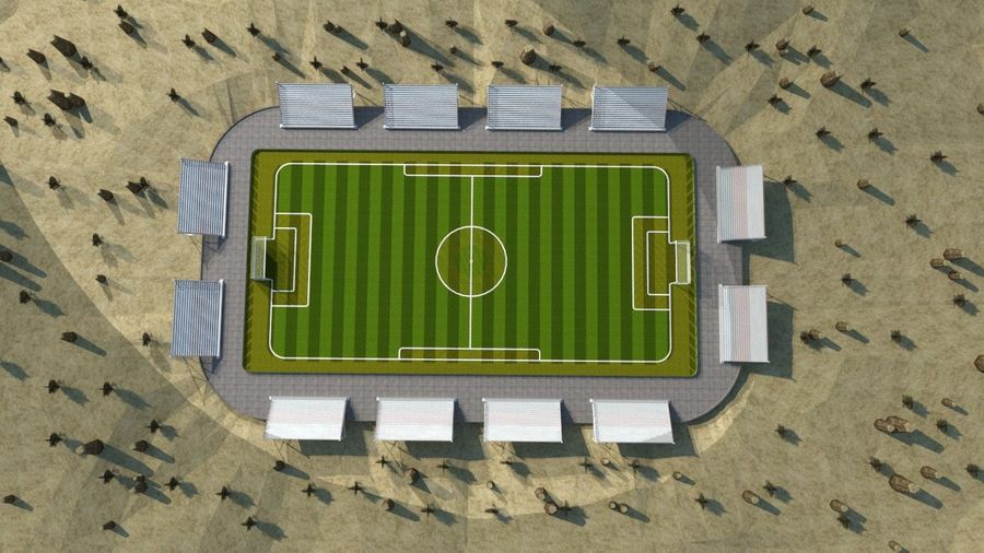 Soccer Stadium 3 royalty-free 3d model - Preview no. 9