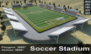 Soccer Stadium 3 3d model