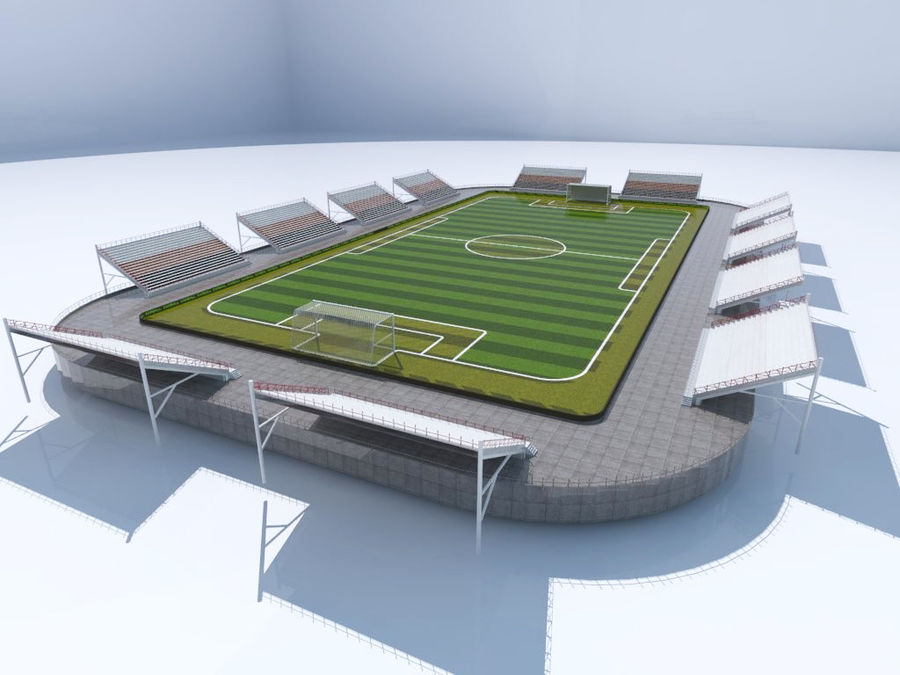 Soccer Stadium 3 royalty-free 3d model - Preview no. 2