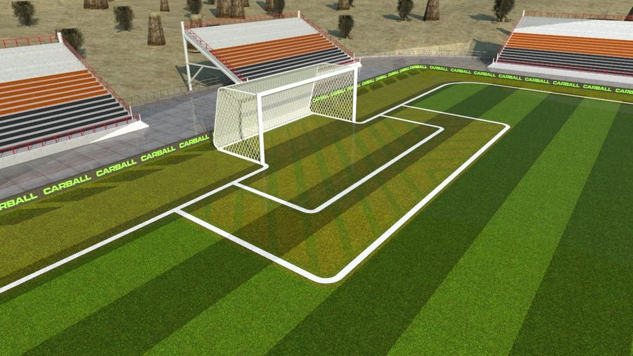 Soccer Stadium 3 royalty-free 3d model - Preview no. 7
