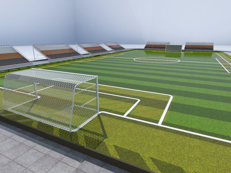 Soccer Stadium 3 royalty-free 3d model - Preview no. 4