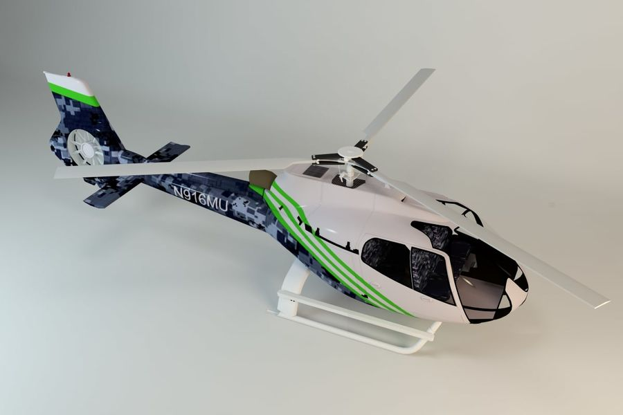 Helicopter royalty-free 3d model - Preview no. 1