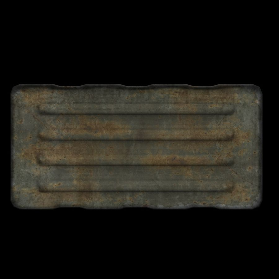 Military Crate royalty-free 3d model - Preview no. 2