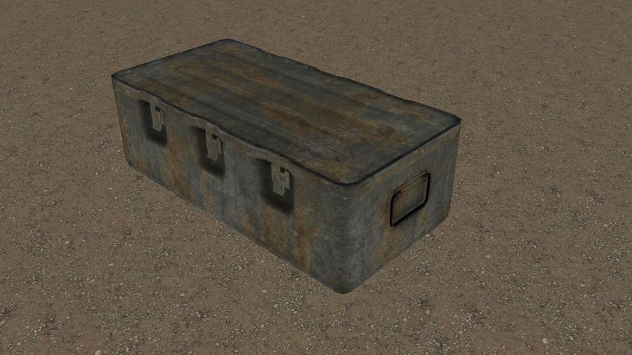 Military Crate royalty-free 3d model - Preview no. 15
