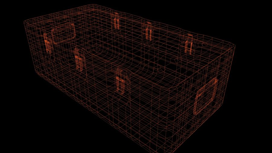 Military Crate royalty-free 3d model - Preview no. 16