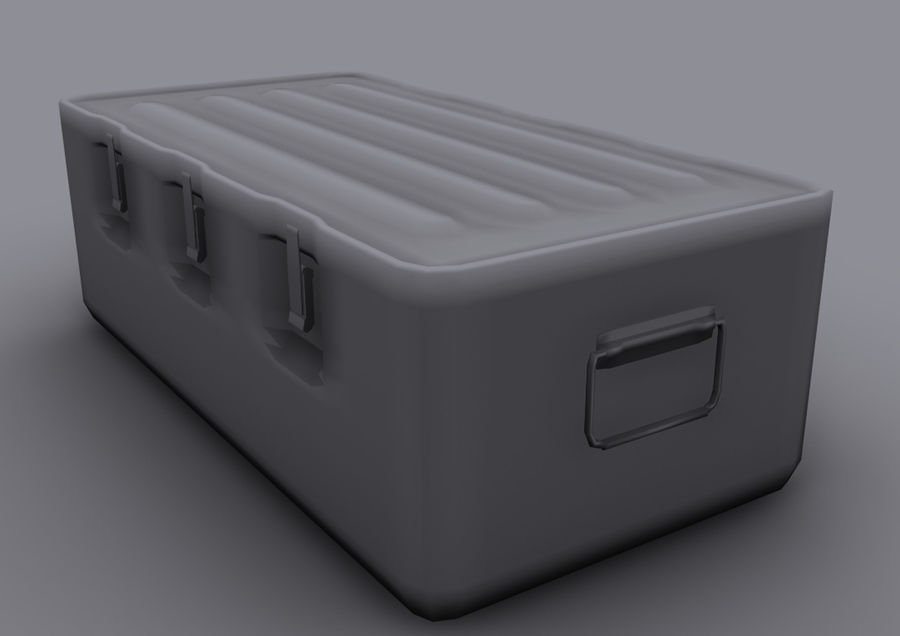 Military Crate royalty-free 3d model - Preview no. 13