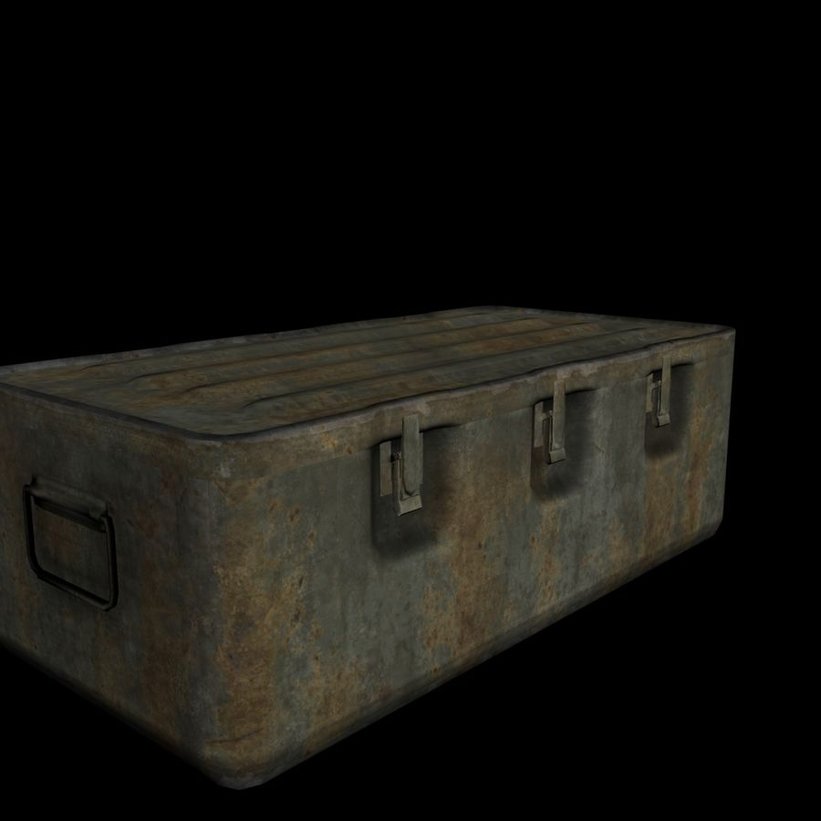 Military Crate royalty-free 3d model - Preview no. 6