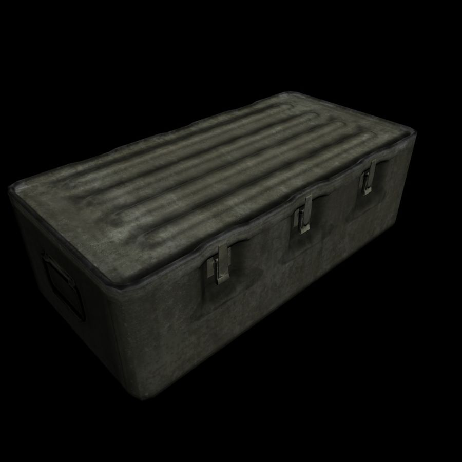 Military Crate royalty-free 3d model - Preview no. 10