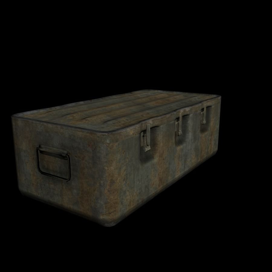 Military Crate royalty-free 3d model - Preview no. 4