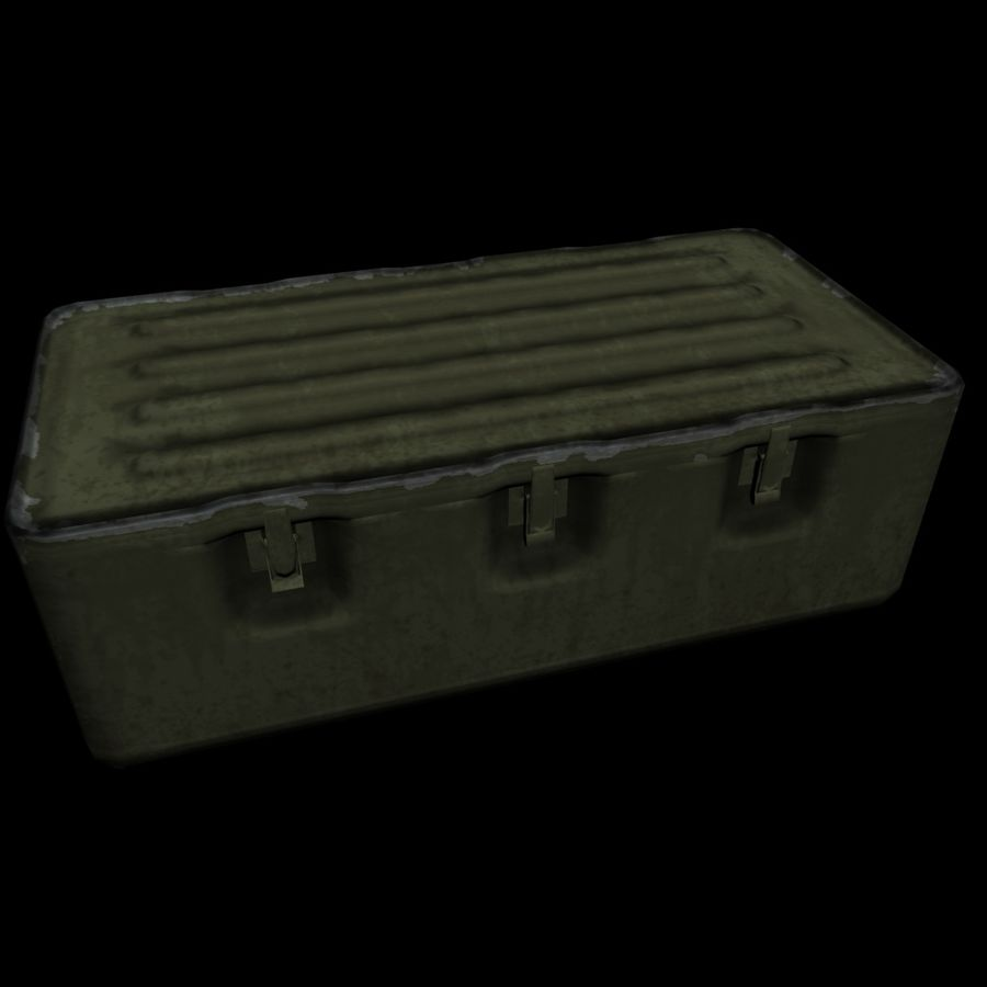Military Crate royalty-free 3d model - Preview no. 12
