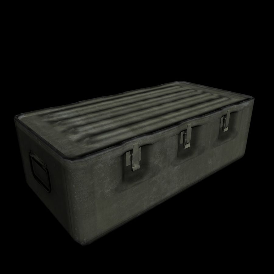 Military Crate royalty-free 3d model - Preview no. 9