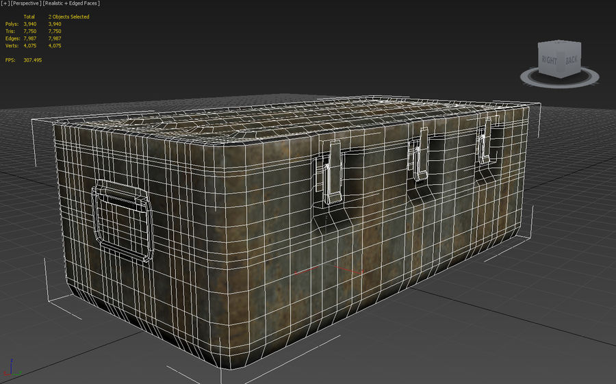 Military Crate royalty-free 3d model - Preview no. 8