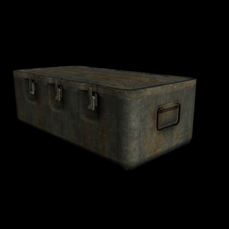 Military Crate royalty-free 3d model - Preview no. 5