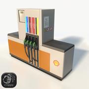 Shell-brandstofverdeler laag poly 3d model