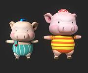 Cartoon_Pig 3d model