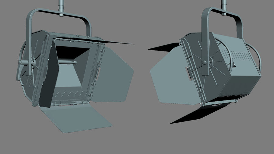 ARRI Flood 1250 royalty-free 3d model - Preview no. 7