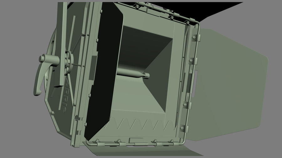 ARRI Flood 1250 royalty-free 3d model - Preview no. 9