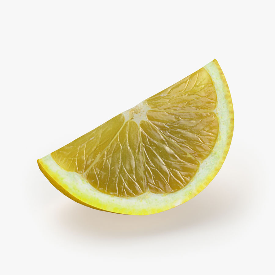 Tipo di frutta al limone 1 royalty-free 3d model - Preview no. 4
