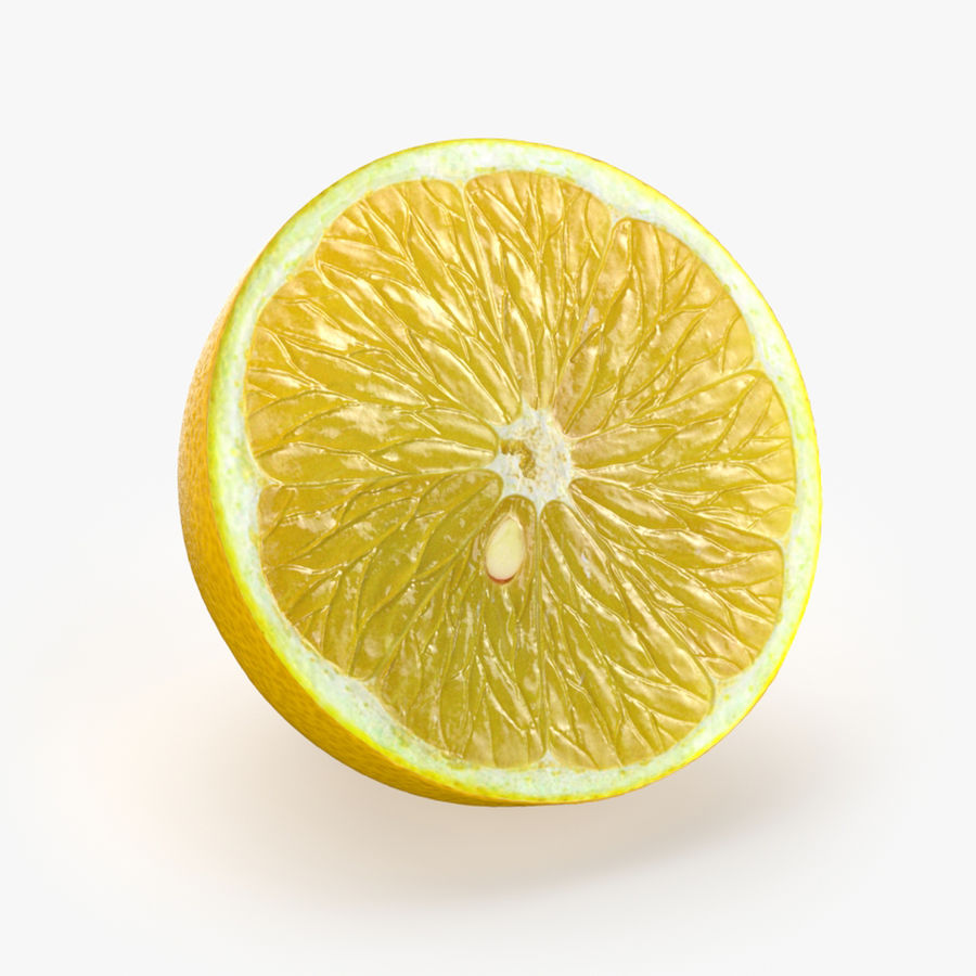 Tipo di frutta al limone 1 royalty-free 3d model - Preview no. 3