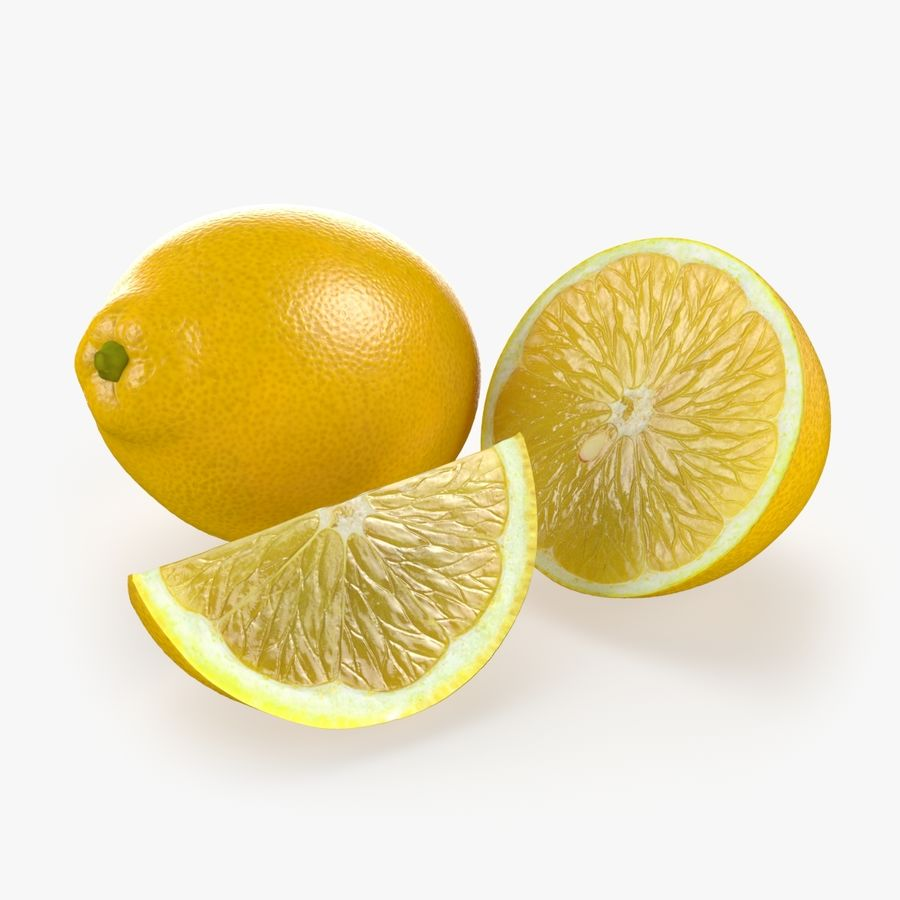 Tipo di frutta al limone 1 royalty-free 3d model - Preview no. 1