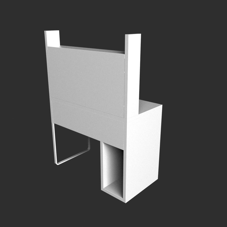 IKEA Micke royalty-free 3d model - Preview no. 5